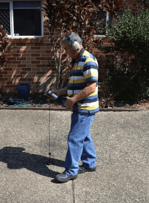 Leak detection in action
